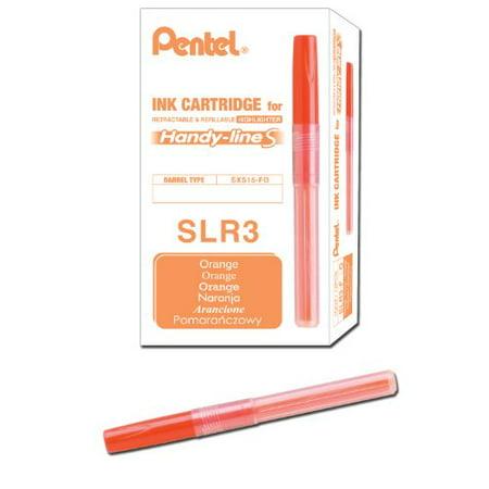 Pentel Refill for Handy Line S Highlighter, Orange Ink, Box of 12 (SLR3-F)