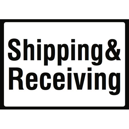 Order Metal - Shipping & Receiving Sign - Large Warehouse Retail Order Pick Up Zone Signs - Aluminum Metal, 12x18