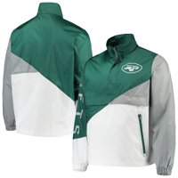 New York Jets G-III Sports by Carl Banks Double Team Half-Zip Pullover Jacket - Green/White