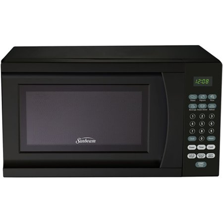 Sunbeam SGS90701B 0.7-Cubic Feet Microwave Oven, Black Multi-Colored
