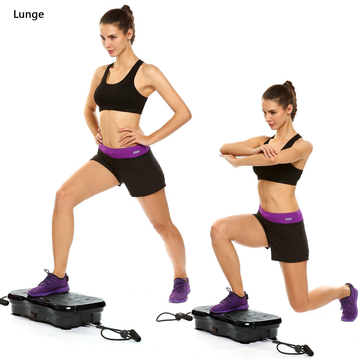 200W Vibration Platform Whole Body Fitness Workout Machine Exercise Equipment