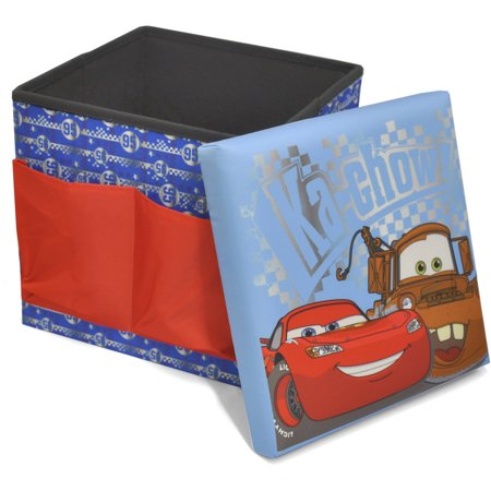 Disney cars sit and store folding ottoman for Ottoman to sit on