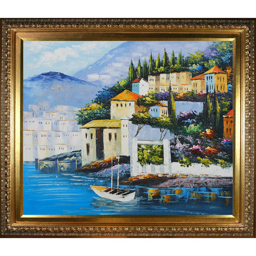 Wildon Home  Italy at Dusk by Various Artists Framed Original Painting