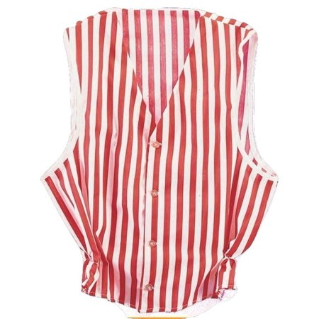 Red White Striped Vest Barbershop Quartet Singers Stage Adult Costume Accessory](Opera Singer Costume)