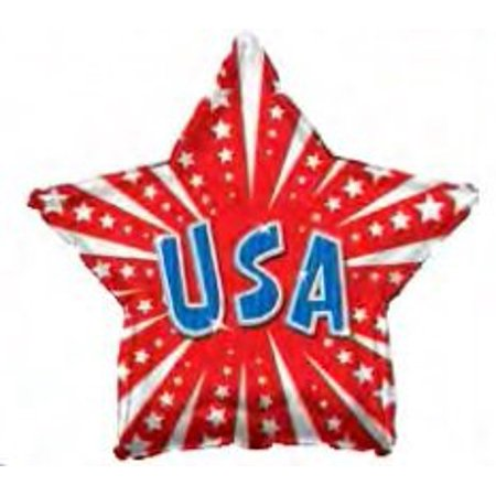 17 Inch Red Usa Star Balloon Pkg/10, Patriotic ballon By PMU](Ballons For Sale)