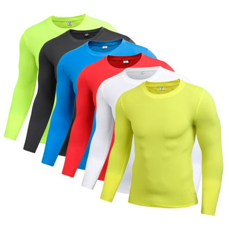 - EFINNY Men Boy Long Sleeve Compression Under Base Layer Tight Sports Top T-Shirts