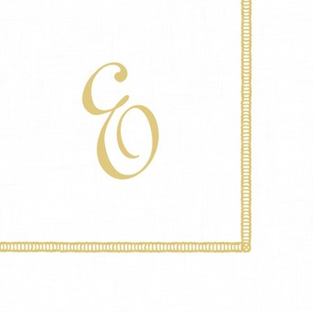- Monogram Initial E Paper Cocktail Napkins 20pk