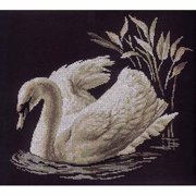 "RTO Swan Counted Cross-Stitch Kit, 15-3/4"" x 13-3/4"", 14 Count"