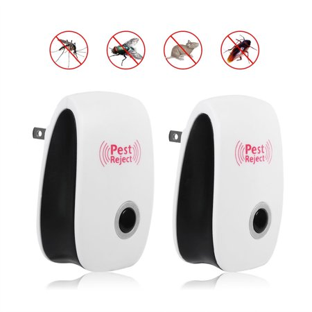 2 PCS 5W Electronic Ultrasonic Anti Pest Rat Mosquito Cockroach Mice Killer Repeller