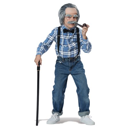 Boys Old Man Halloween Costume Kit