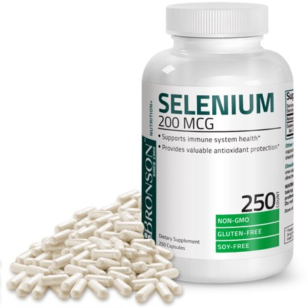 Selenium 200 Mcg for Thyroid, Prostate and Heart Health - Selenium Amino Acid - Essential Trace Mineral, 250