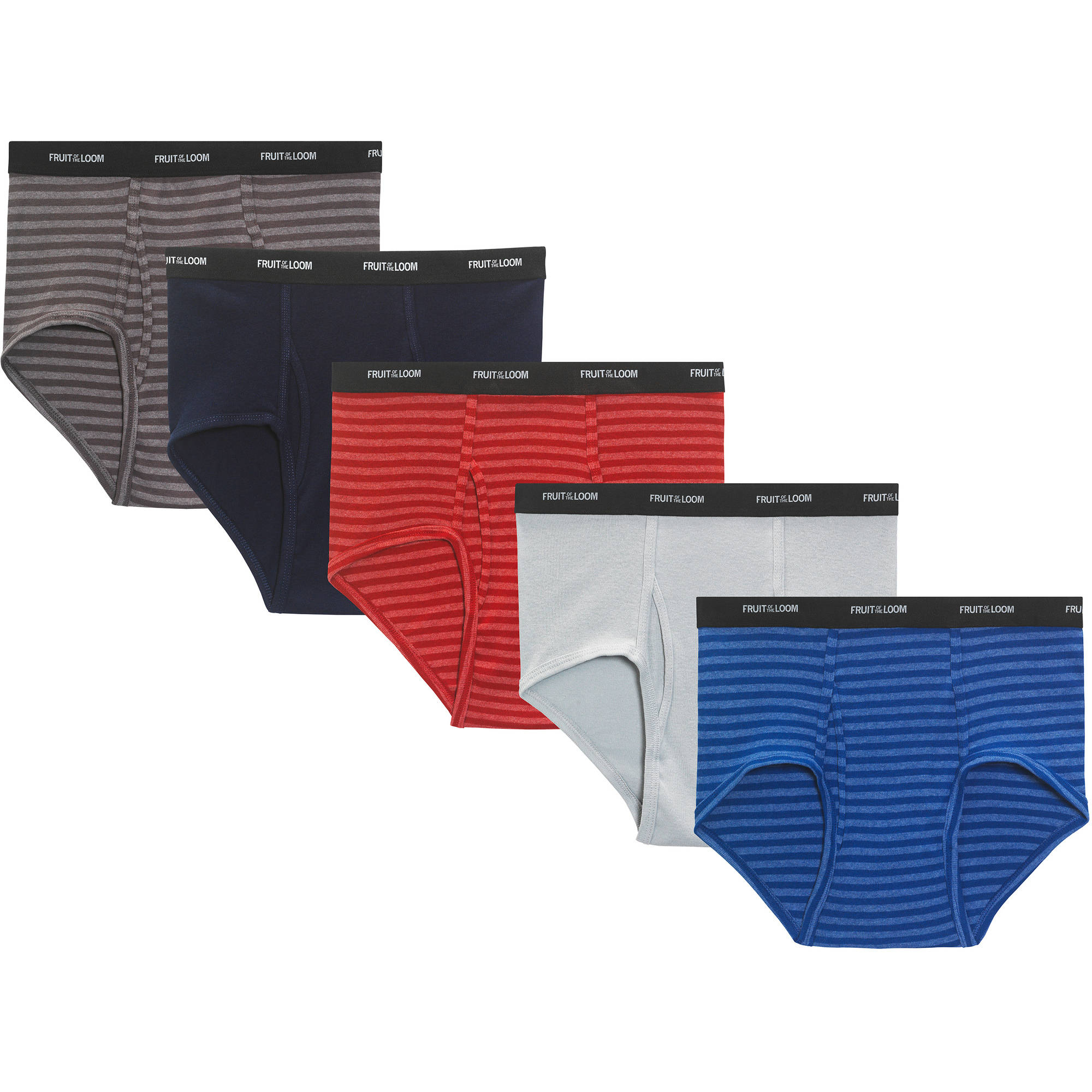 Fruit of the Loom Big Men's Stripes and Solids Fashion Briefs, 5-Pack by Fruit of the Loom