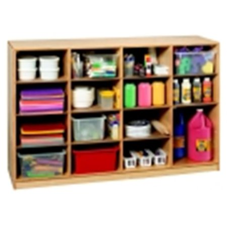 Mobile Adjustable Shelf 16 Cubby (Sectional Mobile Cubby)