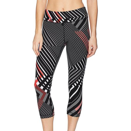Tommy Hilfiger NEW Black Women's Large L Geo Print Athletic Leggings