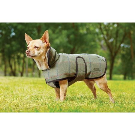 """Weatherbeeta Double Bonded Fleece Dog Coat Gold Stripe 26"""""""