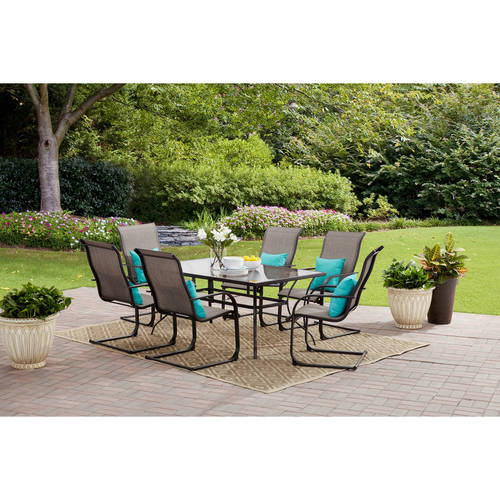 Mainstays Bristol Springs 7-Piece Dining Set, Grey