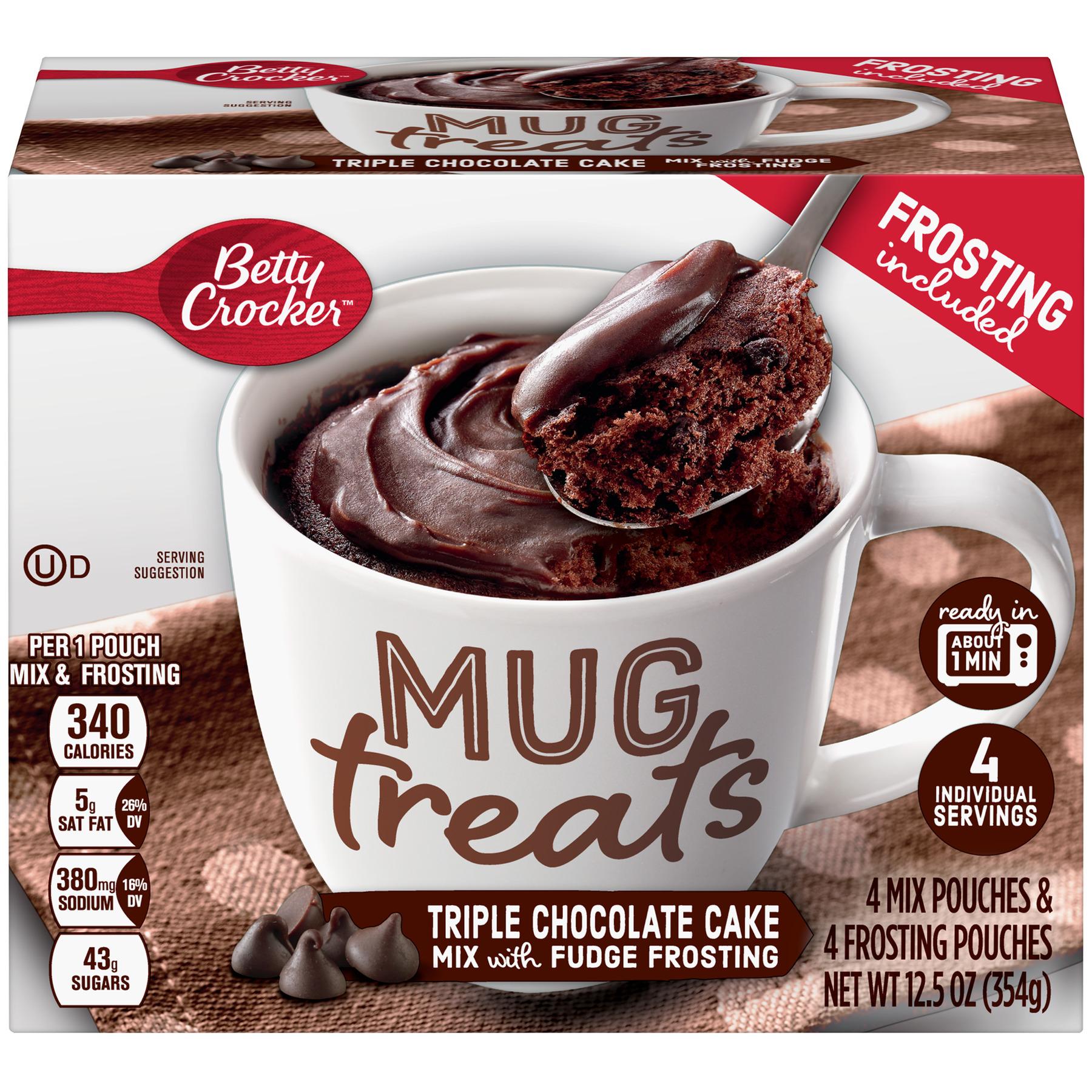 (6 Pack) Betty Crocker Mug Treats Triple Chocolate Cake 12.5 oz Box
