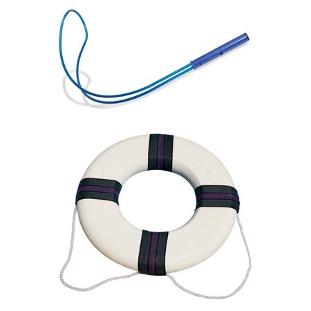 Life Preserver Hanging - Swimline Hydrotools 89900 Swimming Pool Emergency Safety Hook + Life Preserver