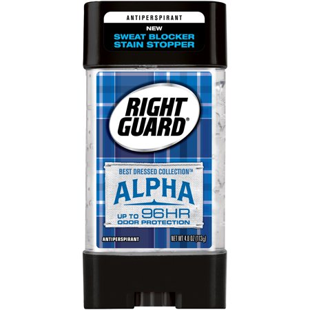 (2 Pack) Right Guard Best Dressed Antiperspirant Deodorant Gel, Alpha, 4