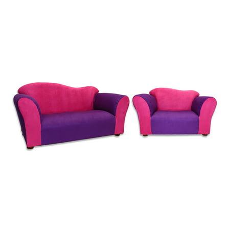 Keet Sofa Chair Wave Children Pink Purple Microsuede