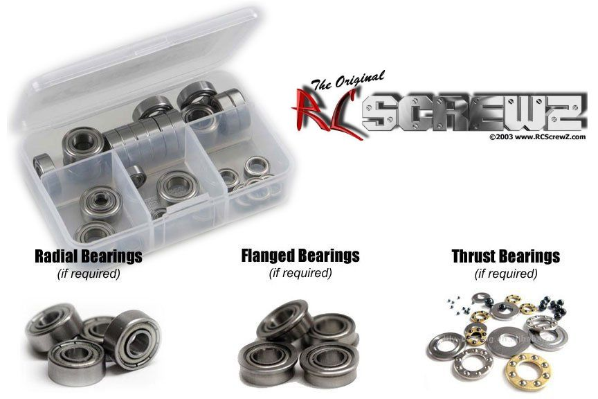 RC Screwz Traxxas TRX-4 Crawler Metal Shielded Bearing Kit #tra081b by RCScrewZ