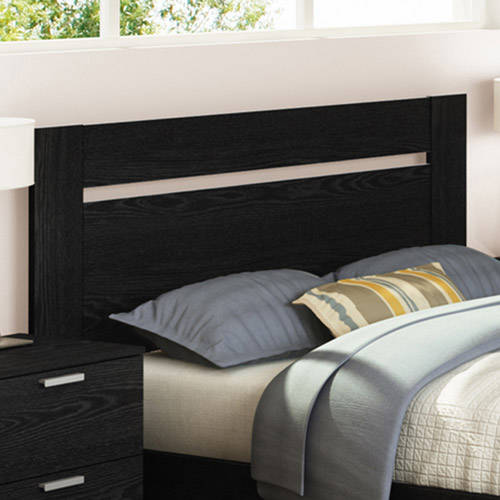 South Shore Flexible Full/Queen Headboard, Black Oak
