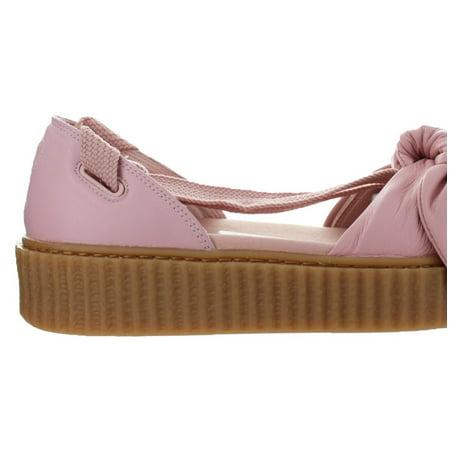 premium selection 4ee54 c190a Womens Puma x Fenty By Rihanna Bow Creeper Sandal Silver Pink Oatmeal