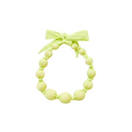 Sophie Catalou Girls Limepop Solid Colored Wooden Bead Bubble Necklace - Bubble Necklaces