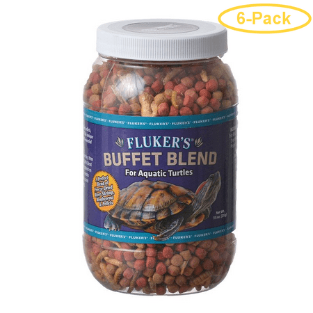 Flukers Buffet Blend for Aquatic Turtles 7 5 oz Pack of 6