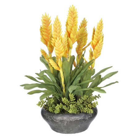 House of Silk Flowers Inc. Bromeliad Floral Arrangement in Planter