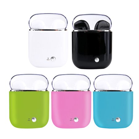 Magicfly Practical upgrade i7tws Wireless Bluetooth Headset (white crystal ii)4.2 Mini Earbuds With USB Charge Cable and Charging Case, Stereo Headset Apt for Android& Iphone Use