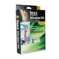 "Duck MAX Heavy Duty Indoor Window Insulation Kit, Film Insulates Three 3"" x (5"") Windows"