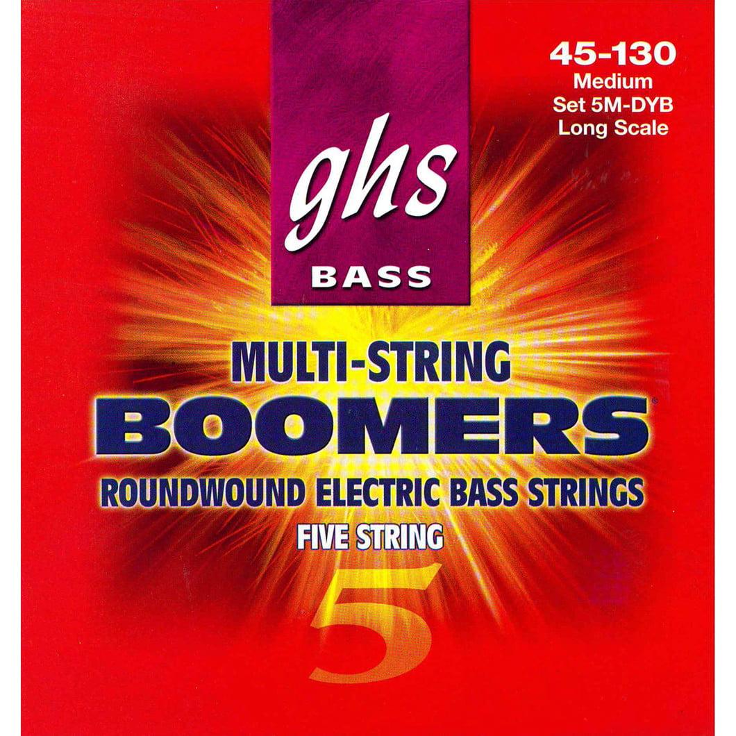 Ghs 5-String Standard Bass Boom String Set- Medium