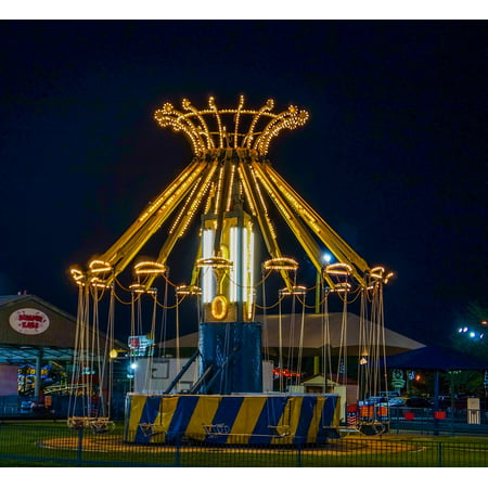 Canvas Print Fair Ride Fun Recreation Amusement Park Carnival Stretched Canvas 10 x - Parks And Recreation Halloween Party