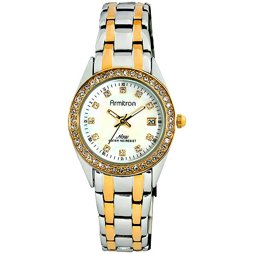 Armitron Ladies' Two-Tone Swarovski Crystal-Accented Dress Watch