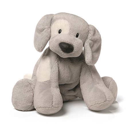 Gund Baby Spunky Dog Stuffed Animal, Gray