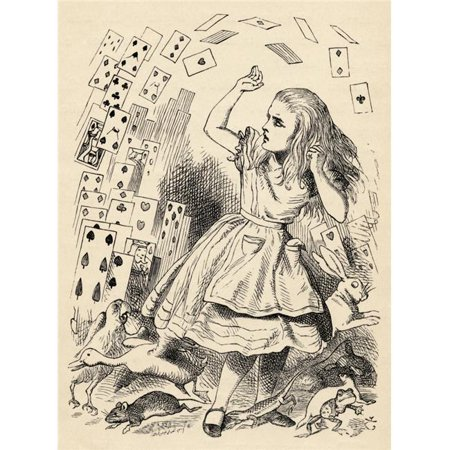 Posterazzi DPI1856611LARGE Alice & The Pack of Cards Illustration by John Tenniel From The Book Alicess Adventures In Wonderland by Lewis Carrol Poster Print, Large - 24 x 32 - image 1 of 1