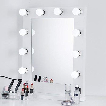 Ships Mirror - HERCHR Hollywood Style LED Vanity Mirror Lights Kit for Makeup Dressing Table Vanity Set Mirrors with Dimmer and Power Supply Plug in Lighting Fixture Strip in Dressing Room, 12ft, Mirror Not Included