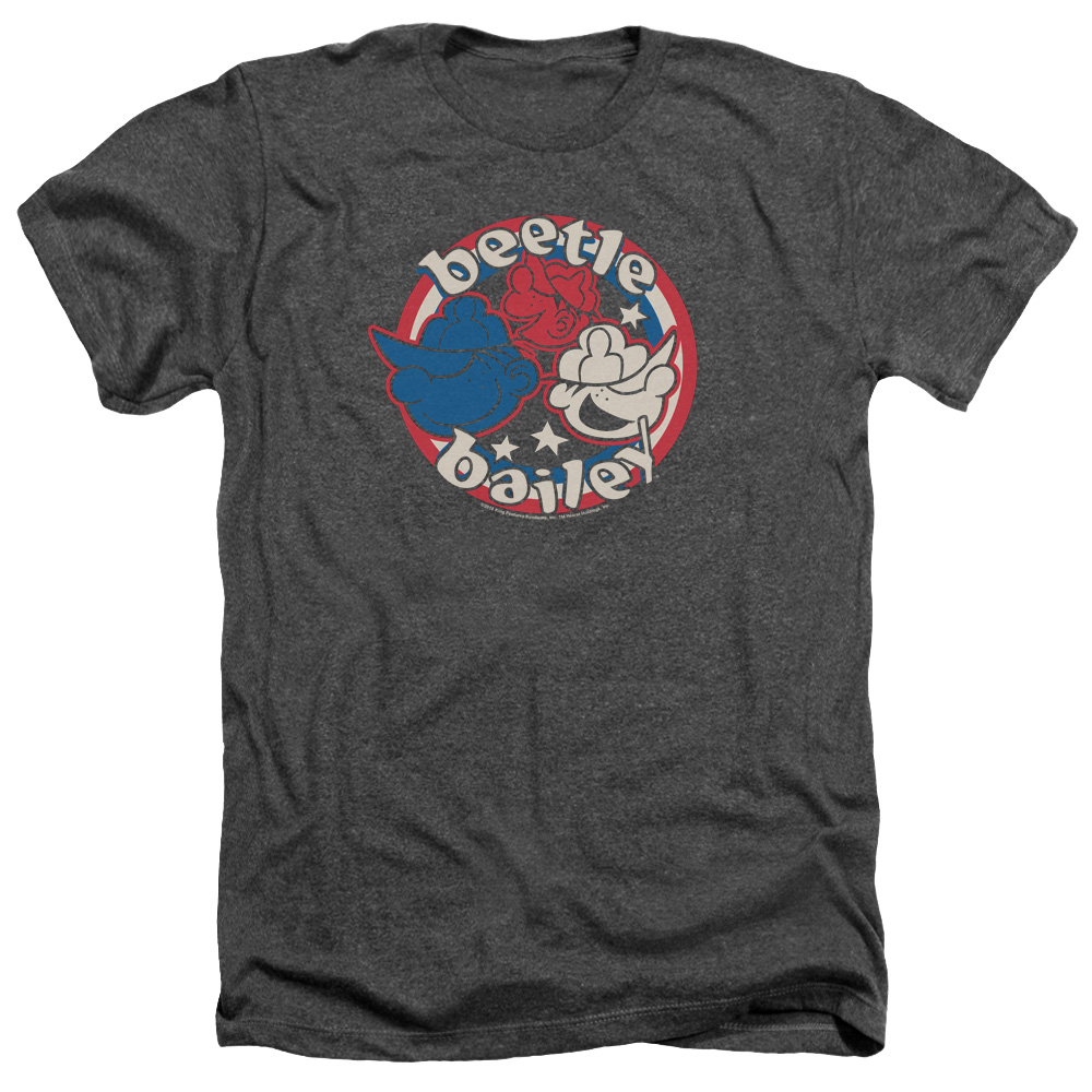 Beetle Bailey Red White And Bailey Mens Heather Shirt