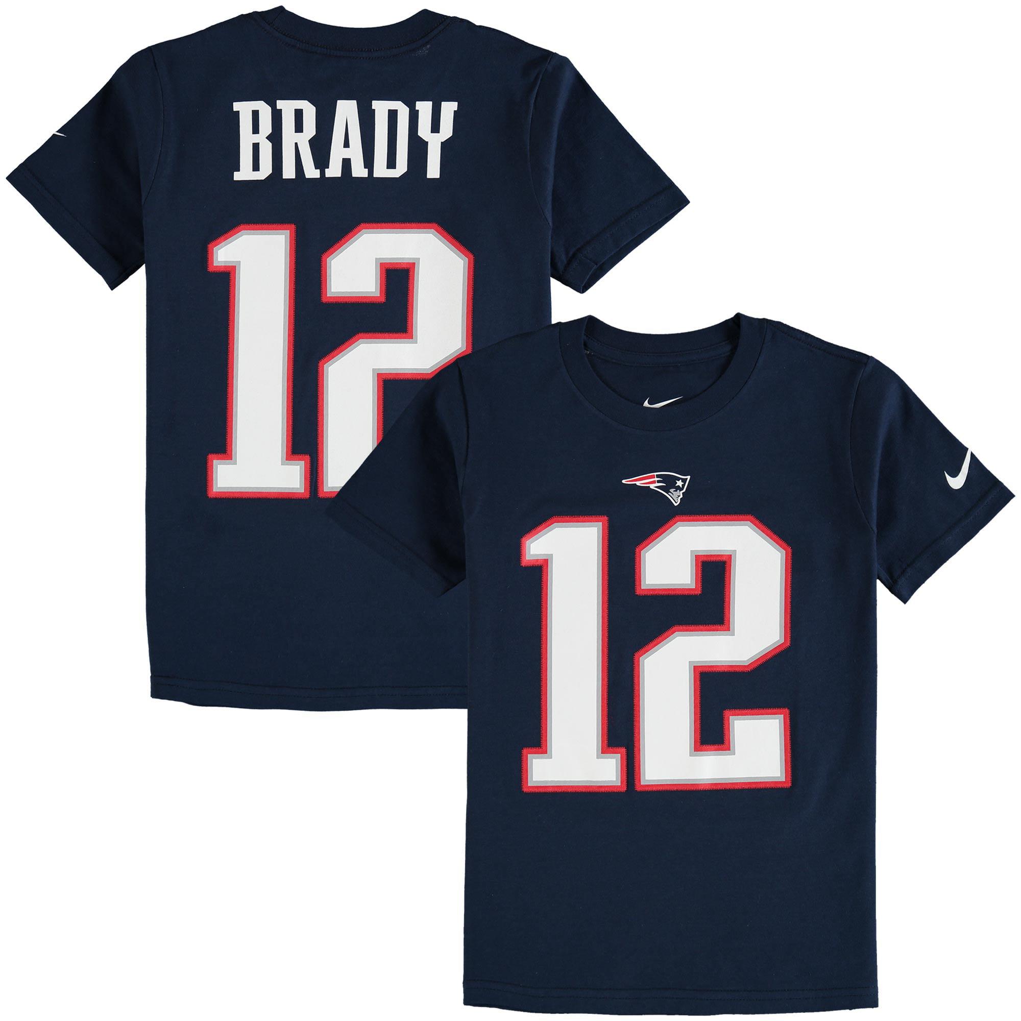 1df0b3bf Tom Brady New England Patriots Nike Youth Color Rush Player Pride Name &  Number T-Shirt - Navy