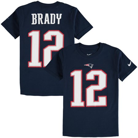 separation shoes c0b7b 813dd Tom Brady New England Patriots Nike Youth Color Rush Player Pride Name &  Number T-Shirt - Navy