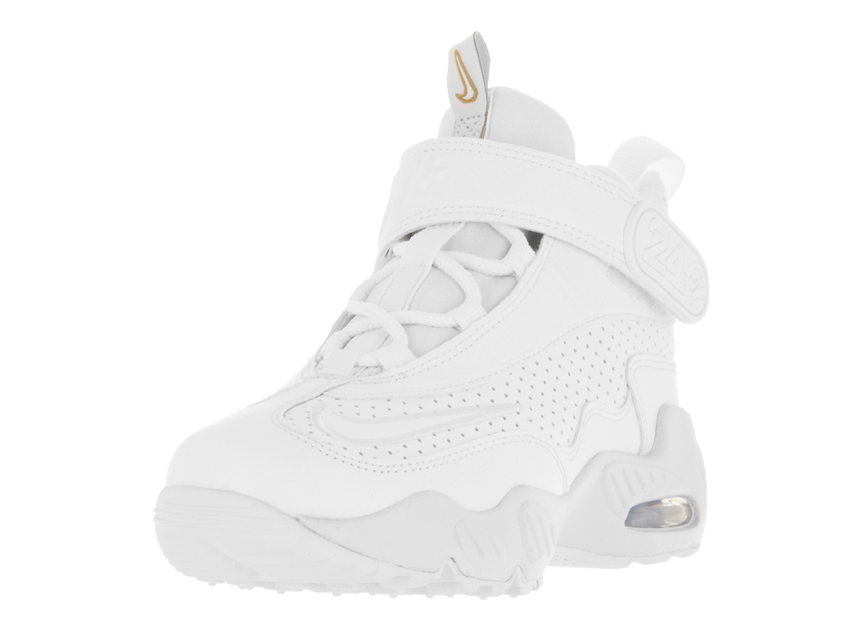 Nike Air Griffey Max 1 (PS) Little Kid's Shoes White Blue Metallic Gold 437355-107 (12 M US) by Nike