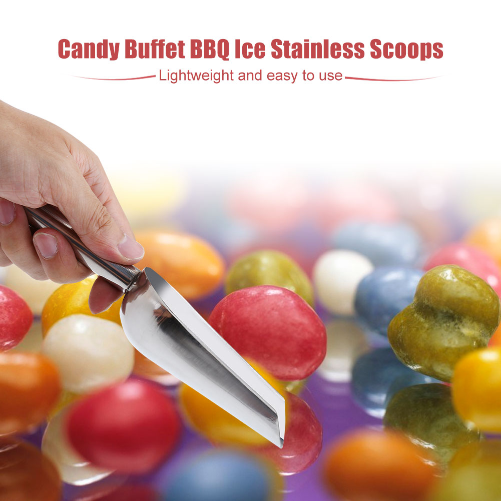 5 x Sweet Scoops  5 x Ice Tongs Wedding Candy Buffet Bar Home Kitchen Stainless Steel Set Stainless Ice Tongs,... by