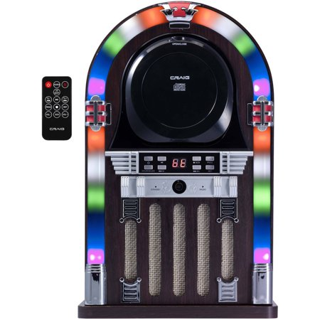 Craig CHT955 Bluetooth CD Jukebox Speaker System with Color-Changing Lights