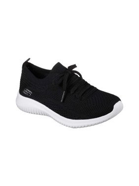 skechers sport women's ultra flex statements sneaker,black/grey,7 m us