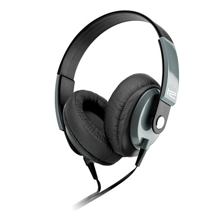 Klip Xtreme Obsession Stereo Headphones with Microphone- Over-ear with In-Line Command capsule- Large 40mm Speaker Drivers for Great Sound & Bass- 3.5mm Connector- Black & Gray Color