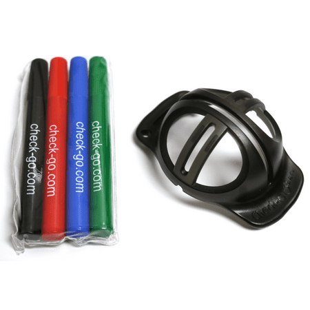 Check Go Ball Liner w/ 4 Color Pens - Golf Marker Alignment Aid