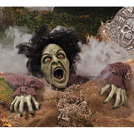 Latex Clawing Zombie Groundbreaking With LED Eyes Halloween Decorations