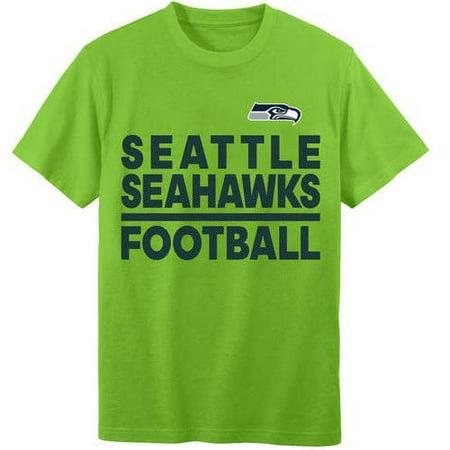 Nfl seattle seahawks youth short sleeve alternate tee for Seahawks t shirt womens walmart