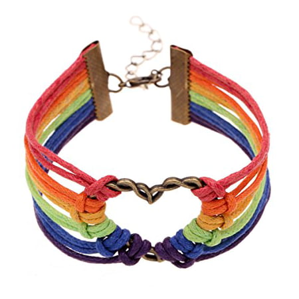 LGBT Bracelet, Lesbian Pride Jewelry, Rainbow Pride Bracelet & Perfect Lesbian